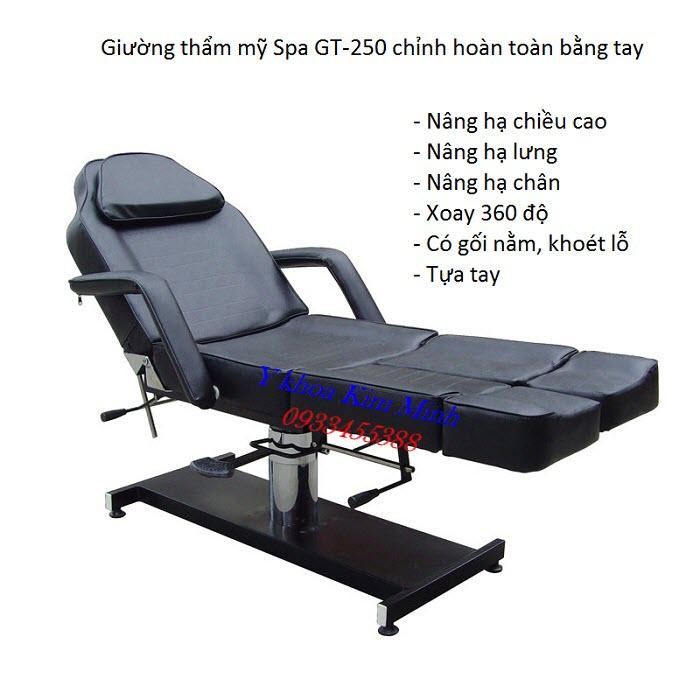 6 chức năng sử dụng của giường thẩm mỹ spa GT-250 - Y khoa Kim Minh
