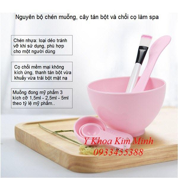 Bán co spa, chen dung bot dap mat, muong dong  bot dung cho spa - Y khoa Kim Minh 0933455388