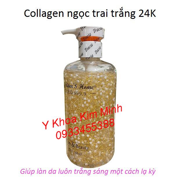 Dưỡng da trắng sáng tự nhiên bằng serum collagen ngọc trai trắng 24K
