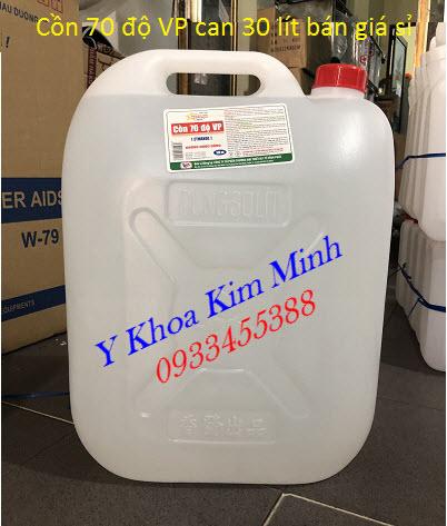 Cồn y tế 70 độ VP can 30 lít bán giá sỉ tại Tp Hồ Chí Minh - Y khoa Kim Minh