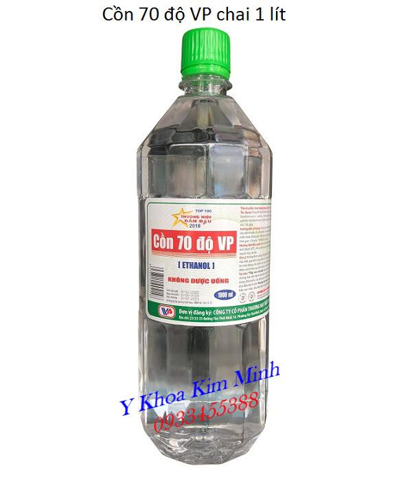 Cồn y tế 70 độ VP 1 lít đóng thùng 12 chai đang bán tại Tp Hồ Chí Minh - Y Khoa Kim Minh