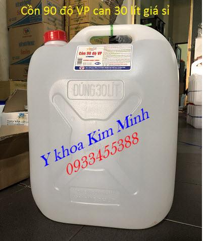 Cồn y tế 90 độ VP can 30 lít bán giá sỉ tại Tp Hồ Chí Minh - Y khoa Kim Minh