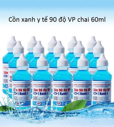 Cồn xanh y tế 90 độ VP chai 60ml bán giá sỉ tại Tp Hồ Chí Minh - Y khoa Kim Minh