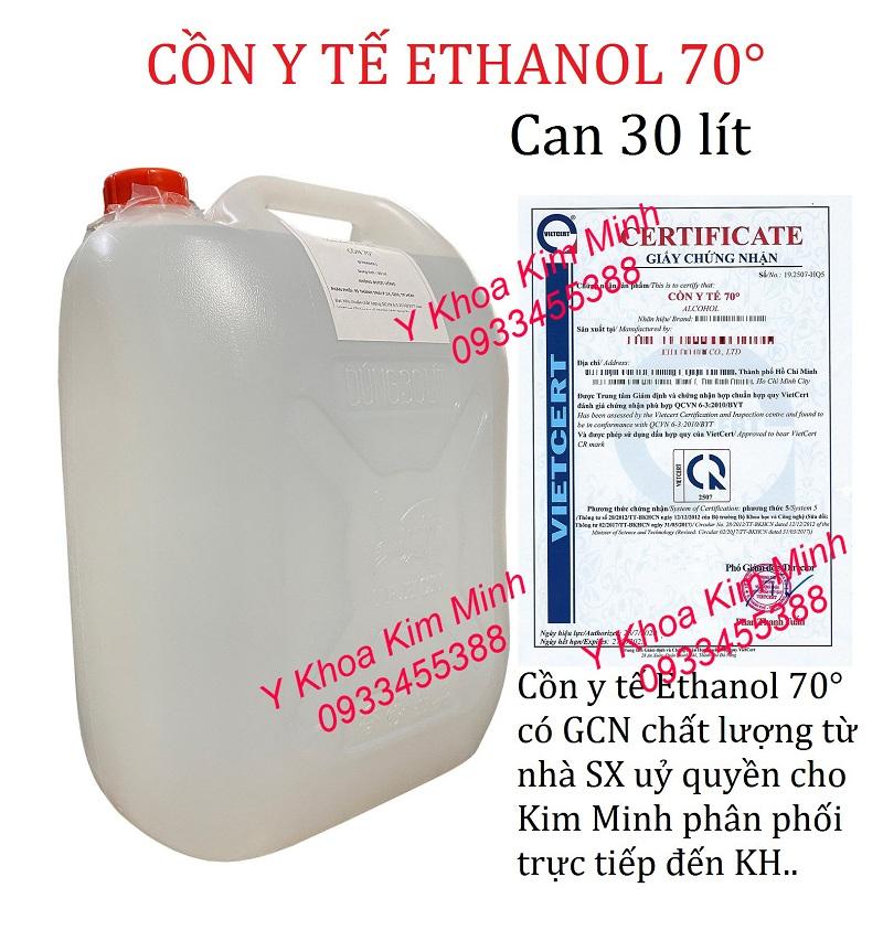 Cồn y tế 70 độ là loại cồn Ethanol có khả năng diệt khuẩn mạnh, bán giá sỉ tại Y Khoa Kim Minh