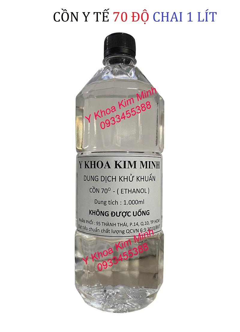 Cồn y tế Ethanol 70 độ chai 1000ml (1 lít) bán giá sỉ tại Y Khoa Kim Minh