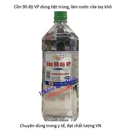 Cồn y tế 90 độ dùng vệ sinh đồ vật, vết thương, dụng cụ y tế chai 1000ml - Y Khoa Kim Minh