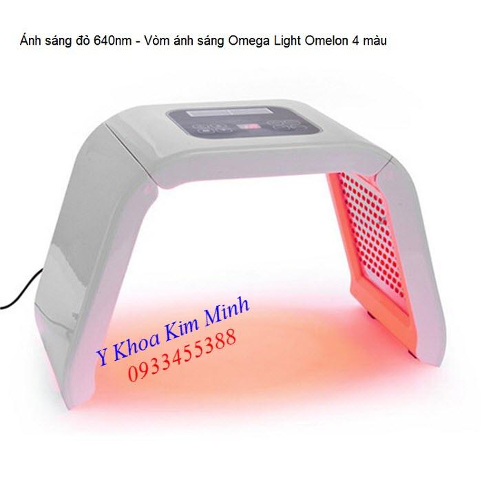 Công dụng ánh sáng bio led đỏ vòm ánh sáng Omega Light Omelon 4 màu - Y khoa Kim Minh