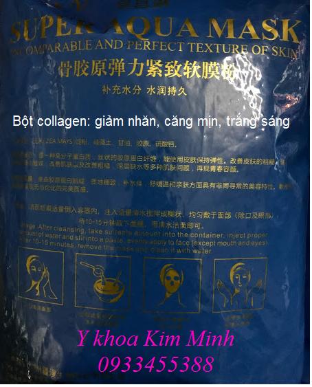 Công dụng của bột đắp mặt nạ collagen super aqua ban tai Y Khoa Kim Minh
