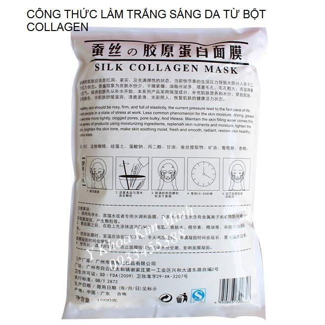 Công dụng bột mặt nạ collagen tơ tằm đắp dưỡng trắng da - Y khoa Kim Minh 0933455388