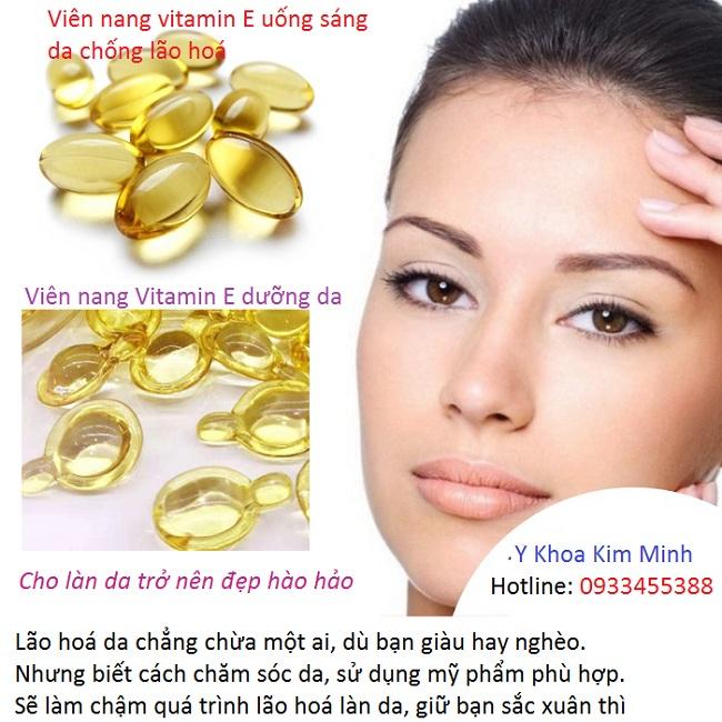 Cong dung cua vien nang Vitamin E chong nhan chong lao hoa lam min trang da - Y khoa Kim Minh