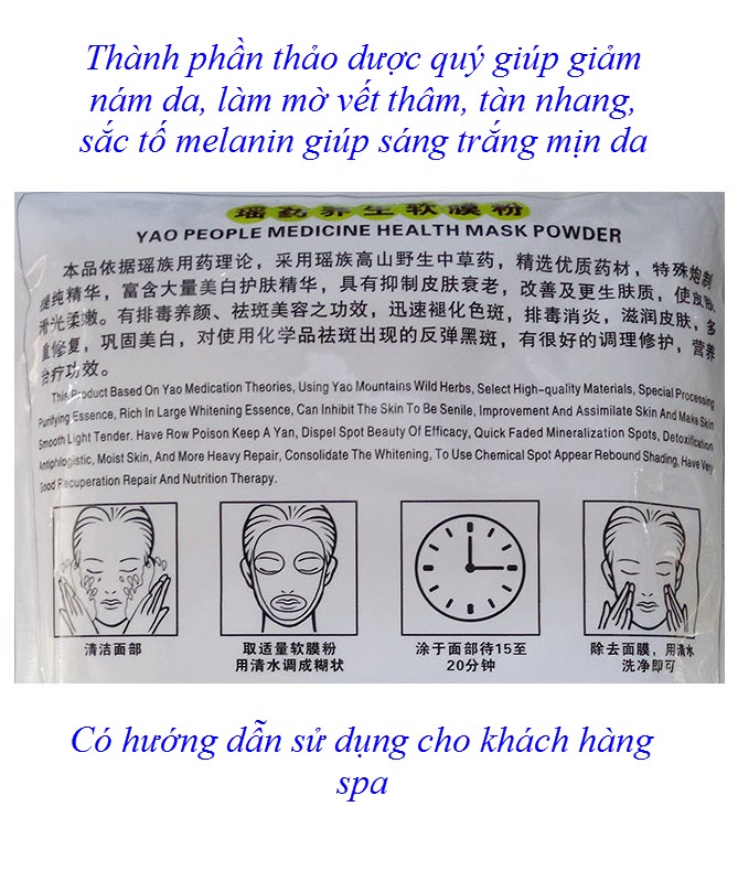 Công dụng làm trắng min, mờ nám, giảm thâm, trị tàn nhang từ bột đắp mặt nạ thảo dược - Y Khoa Kim Minh