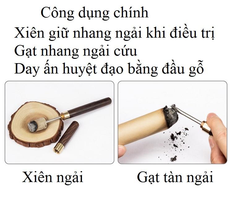 Cây ghim giữ nhang ngải cứu điếu khi đốt - Y khoa Kim Minh