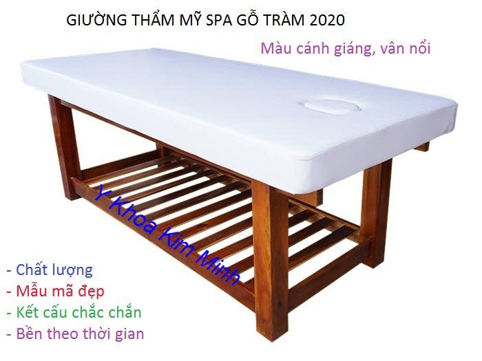 Noi san xuat ban giuong tham my spa go tram mien Tay tai Tp Ho Chi Minh - Y khoa Kim Minh