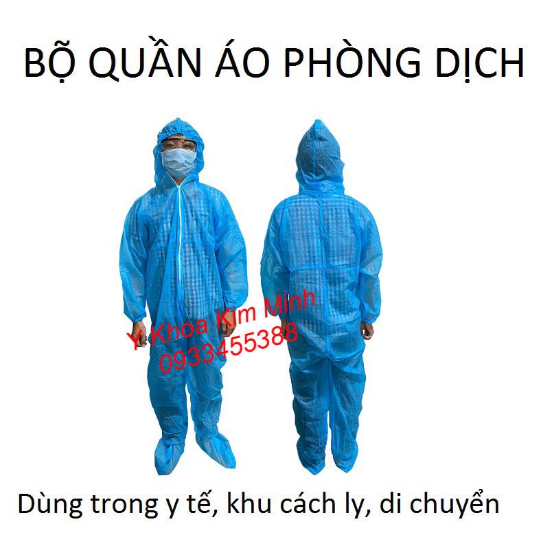 Quần áo phòng dịch y tế 5 món bán giá sị tại Y Khoa Kim Minh