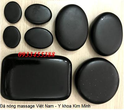Đá đen Việt Nam mang năng lượng masage thải độc tố toàn thân - Y Khoa Kim Minh