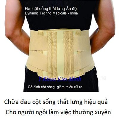 Đai chữa bệnh đau cột sống thắt lưng, thoái vị đĩa đệm cho người ngồi làm việc văn phòng - Y Khoa Kim Minh