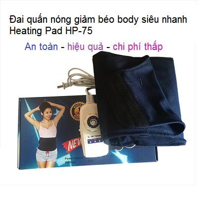 Heating Pad HP-75, dai nhiet quan nong giam beo bung sieu nhanh - Y Khoa Kim Minh