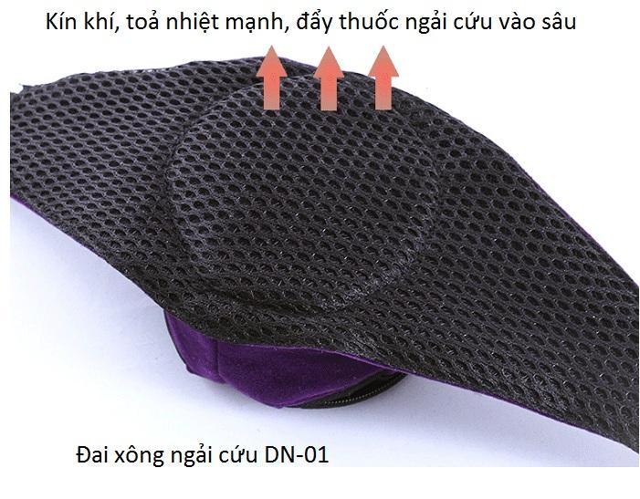Thông số kỹ thuật đai xông ngải cứu chữa đau xương khớp DN-01