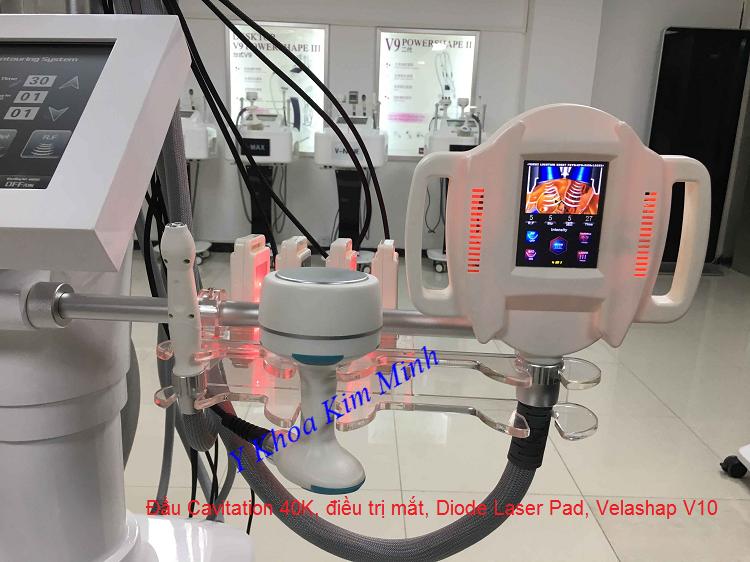 3 tay cầm điều trị Diode Laser Pad, hút RF điều trị mặt, Cavitation 40K, Velashap V10 hút giảm béo - Y khoa Kim Minh 0933455388