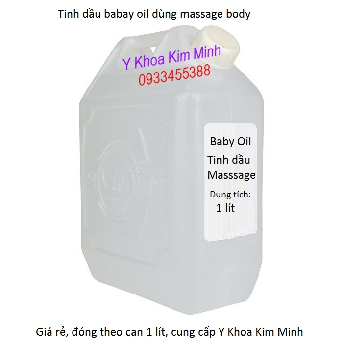 Dia chi ban tinh dau baby oil dung cho massage gia si ban tai Tp Ho Chi Minh - Y Khoa Kim Minh