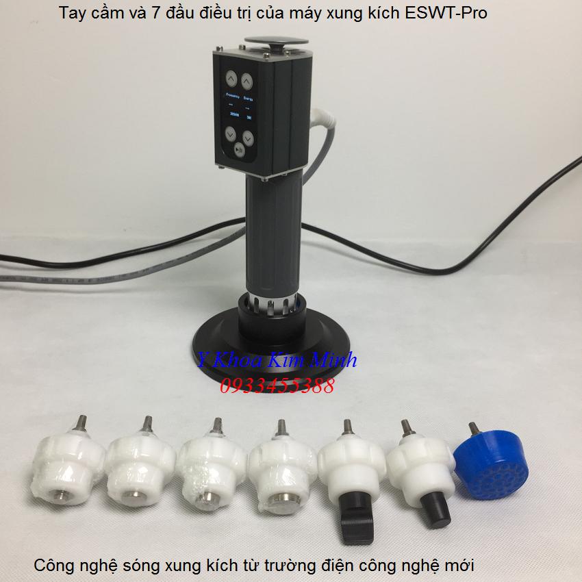 Tay cam va dau dieu tri cua may xung kich ESWT-Pro 2019 - Y Khoa Kim Minh 0933455388