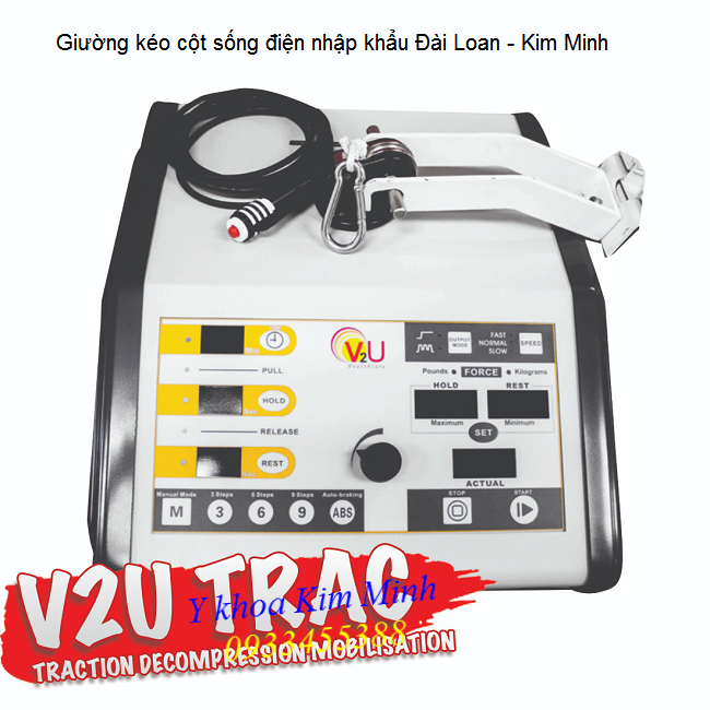 Dau kéo cột sống, giường kéo cột sống lưng cổ bằng điện nhập khẩu Đài Loan - Y khoa Kim Minh 0933455388