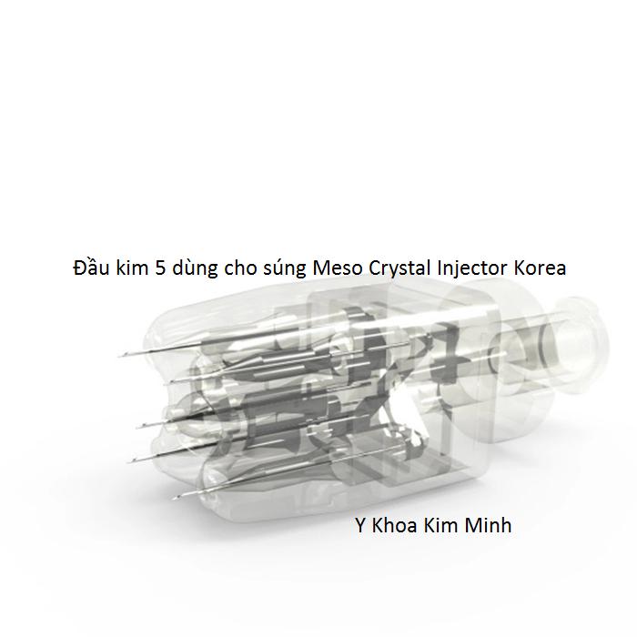 Đầu kim 5 dùng cho súng tiêm dưỡng chất Meso Crystal Injector Hàn Quốc - Y khoa Kim Minh