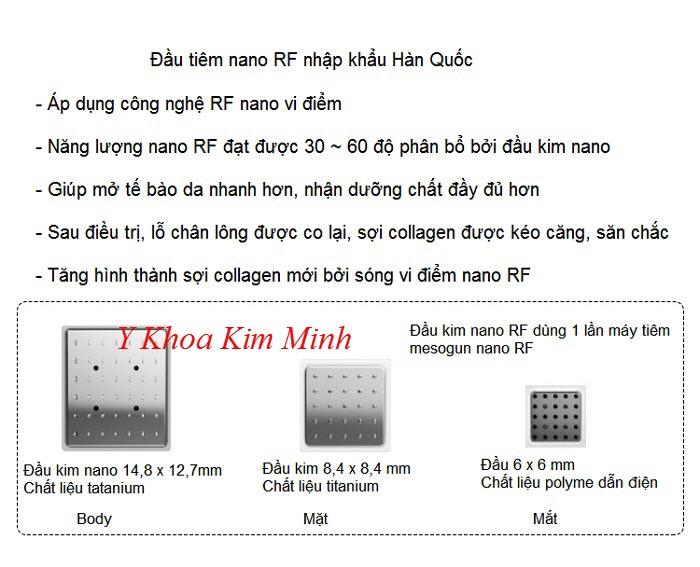 Đầu kim máy tiêm mesogun nano RF - Y khoa Kim Minh bán tại Tp Hồ Chí Minh