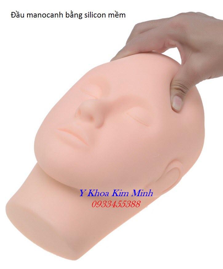 Đầu người manocanh mềm dùng cho thẩm mỹ, phun xăm, y tế chất lượng cao bán giá sỉ tại Y Khoa Kim Minh