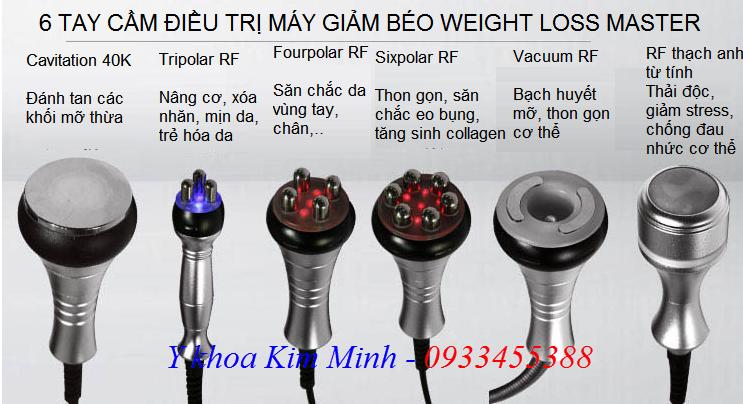 6 tay cầm điều trị máy giảm béo 40K RF Weight Loss Master - Y khoa Kim Minh 0933455388