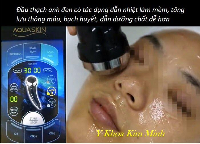 Tác dụng của đầu thạch anh đen máy aqua skin Hàn Quốc - Y Khoa Kim Minh