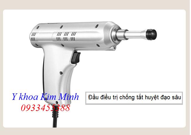 Đầu xung kích điều trị chống tắt nghẽn huyệt đạo mini shockwave Ginha - Y khoa Kim Minh 0933455388