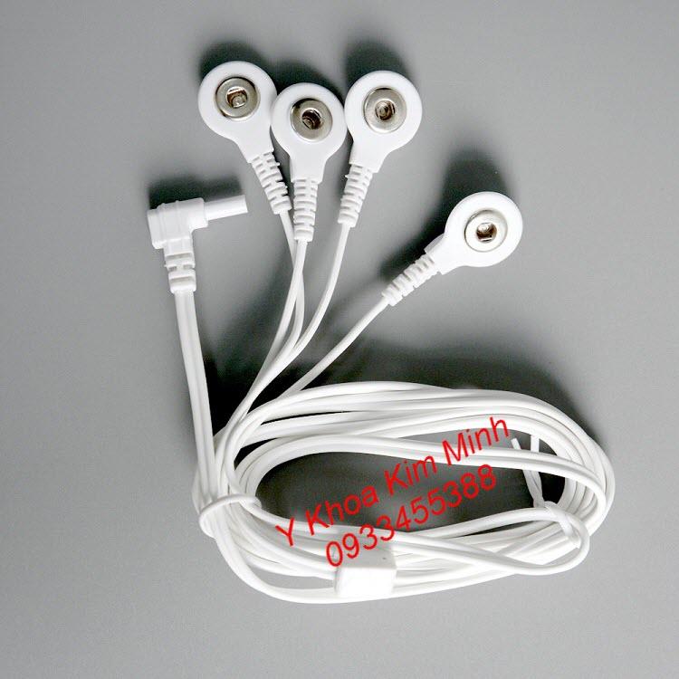 Dây nối miếng dán xung điện với máy massage xung điện Aukewel 8 miếng dán - Y khoa Kim Minh
