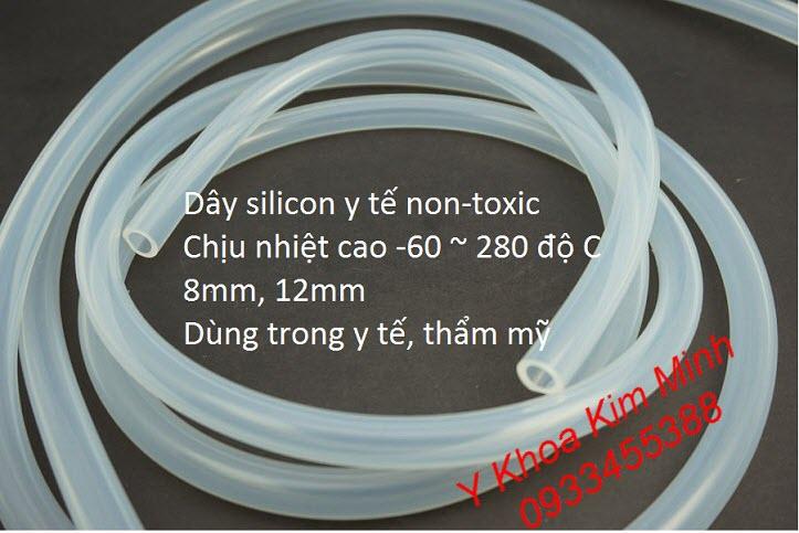 Dây silicon y tế 8mm, 12mm, non-toxic - Y Khoa Kim Minh