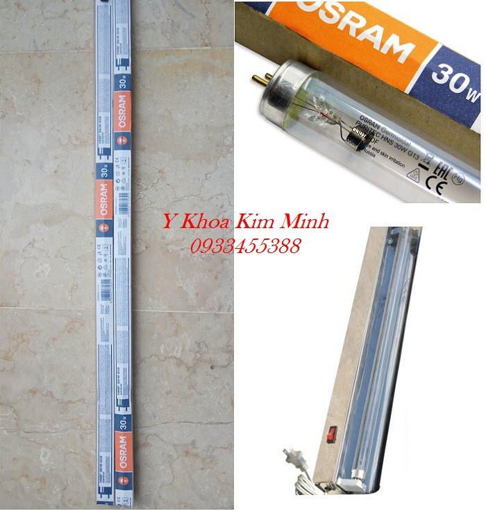 Bộ bóng máng đèn chiếu tia cực tím tử ngoại dùng tiệt trùng phòng OSram 30W G13 - Y khoa Kim Minh