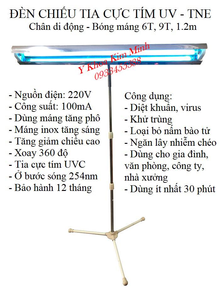 Đèn UV bóng máng chân di động dùng tia cực tím UVC của Thành Nhân TNE - Y Khoa Kim Minh
