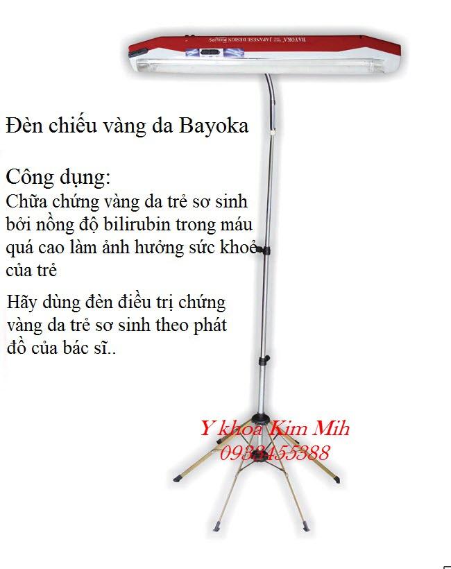 Đèn chiếu trị chứng vàng da trẻ sơ sinh nhãn hiện Bayoka Việt Nam công nghệ Nhật Bản - Y khoa Kim Minh