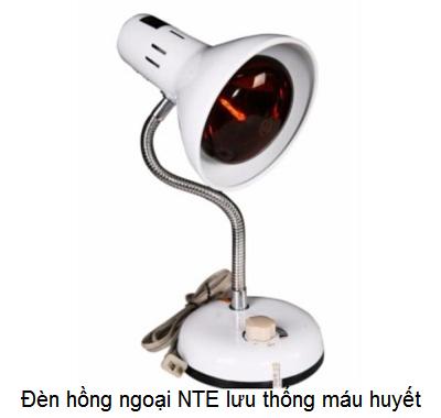 Đèn hồng ngoại NTE Thành Nhân giúp lưu thông khí huyết, giảm tắt huyệt đạo người bị tai biến, nằm liệt giường - Y khoa Kim Minh