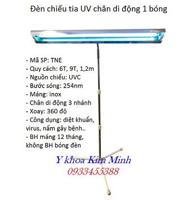Đèn khử trùng cực tím UV TNE gồm bóng máng 6 tất, 9 tất, 1,2m, treo tường, di động - Y Khoa Kim Minh