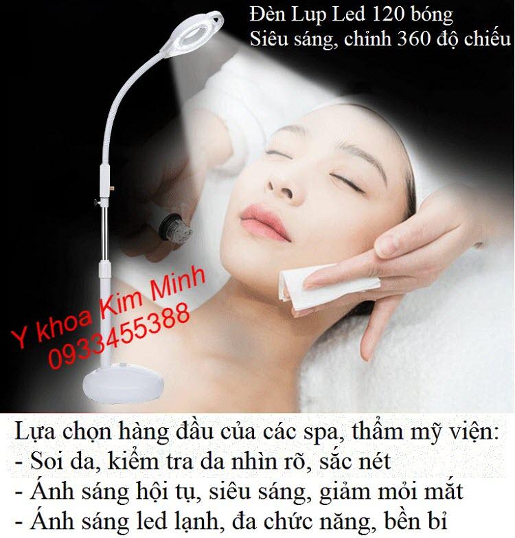 Đèn Led soi da ánh sáng lạnh 120 bóng có volum tăng giảm nguồn sáng bán tại Tp.HCM - Y Khoa Kim Minh