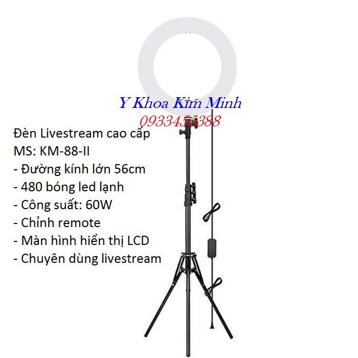Đèn Livestream ánh sáng lạnh bóng tròn gồm 480 bóng Led nhỏ đường kính 46cm - Y Khoa Kim Minh