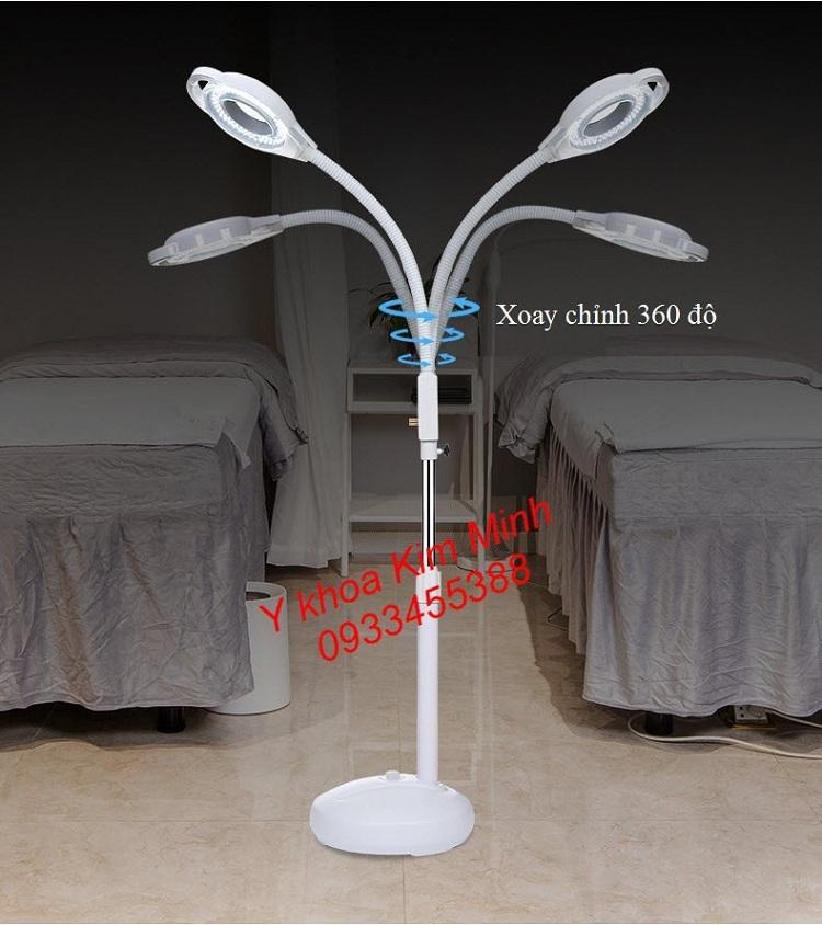Đèn Lup Led chuyên dùng cho spa ánh sáng lạnh 120 bóng có volum tăng giảm phóng đại 8 lần - Y Khoa Kim Minh