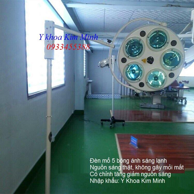 Đèn mổ phẫu thuật 5 bóng ánh sáng lạnh chân di động - Y khoa Kim Minh 0933455388