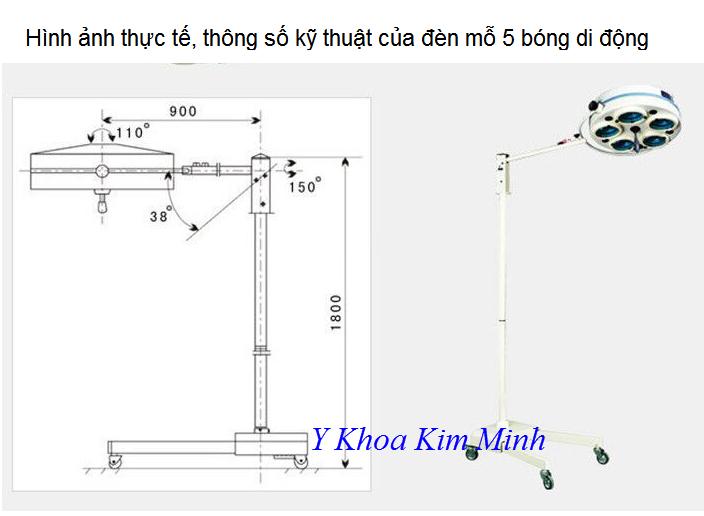 Den mo phau thuat 5 bong chan di dong anh sang lanh - Y khoa Kim Minh 0933455388