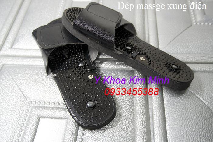 Dùng Dép massage xung điện trị liệu đau tê nhức chân với máy Aukewel AK2000 - Y Khoa Kim Minh