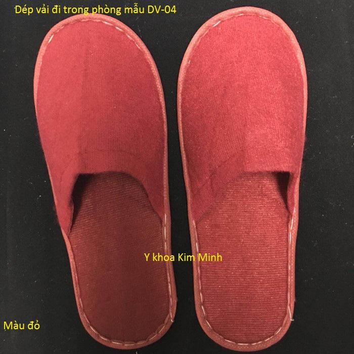 Dép vải màu đỏ DV-04 - Y Khoa Kim Minh