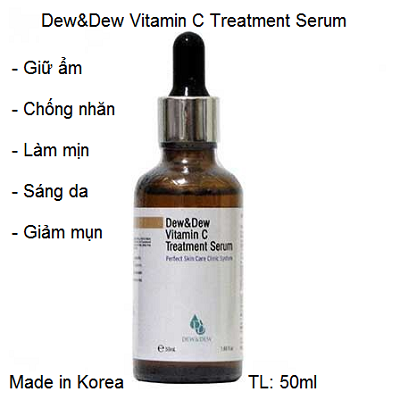 Dew&Dew Vitamin C Treatment Serum Korea 50ml dưỡng trắng da - Y khoa Kim Minh