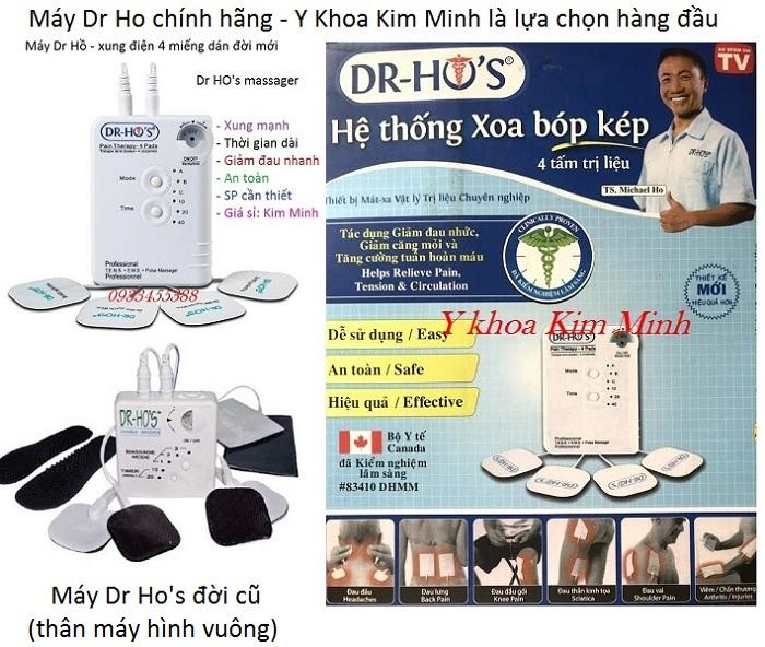 Dia chi cung cap may xung dien Dr Ho chinh hang ban tai Tp Ho Chi Minh - Y khoa Kim Minh