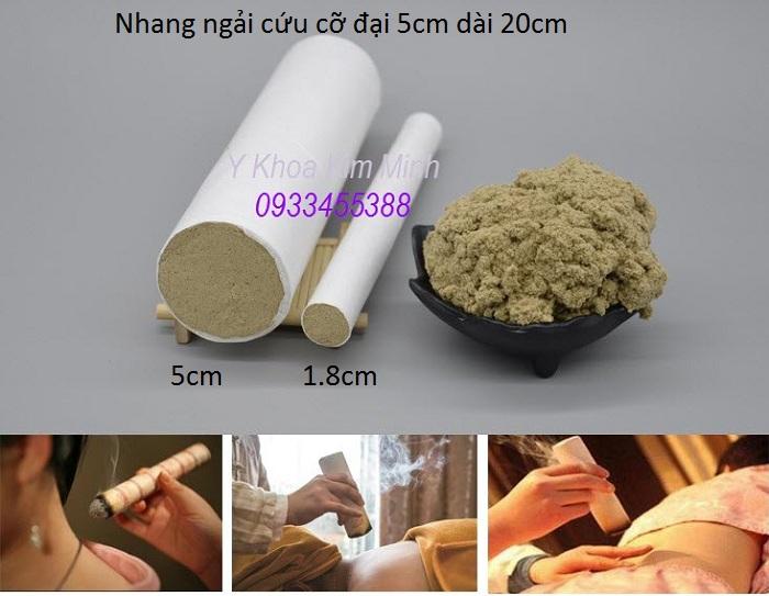 Nhang ngải cứu cỡ đại 5cm x 20cm bán tại Tp Hồ Chí Minh - Y Khoa Kim Minh