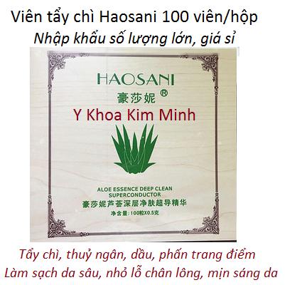 Địa chỉ bán giá sỉ viên tẩy chì, hút chì da mặt Haosani tại Tp Hồ Chí Minh - Y khoa Kim Minh
